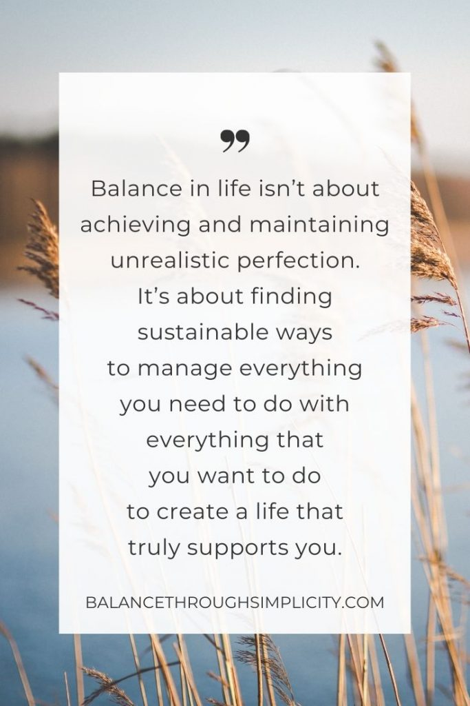 Why we need balance in life