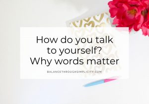 How do you talk to yourself