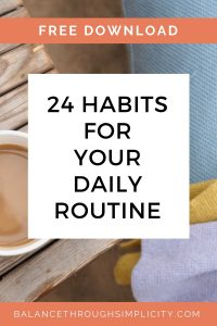 24 habits for your daily routine
