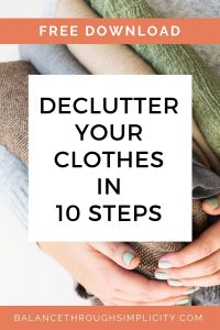 Declutter your clothes in 10 steps