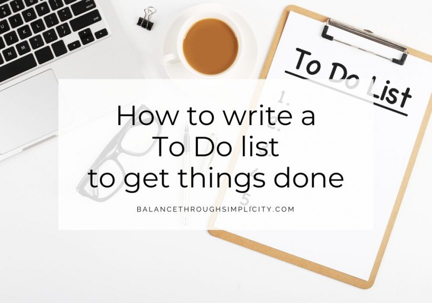 How to write a To Do list