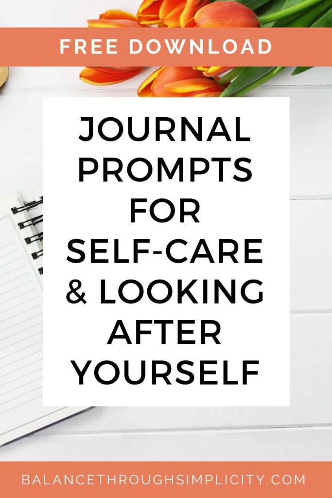 Journal prompts for self care