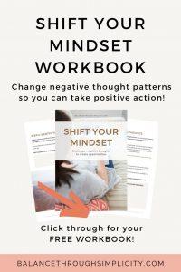 Shift your mindset workbook