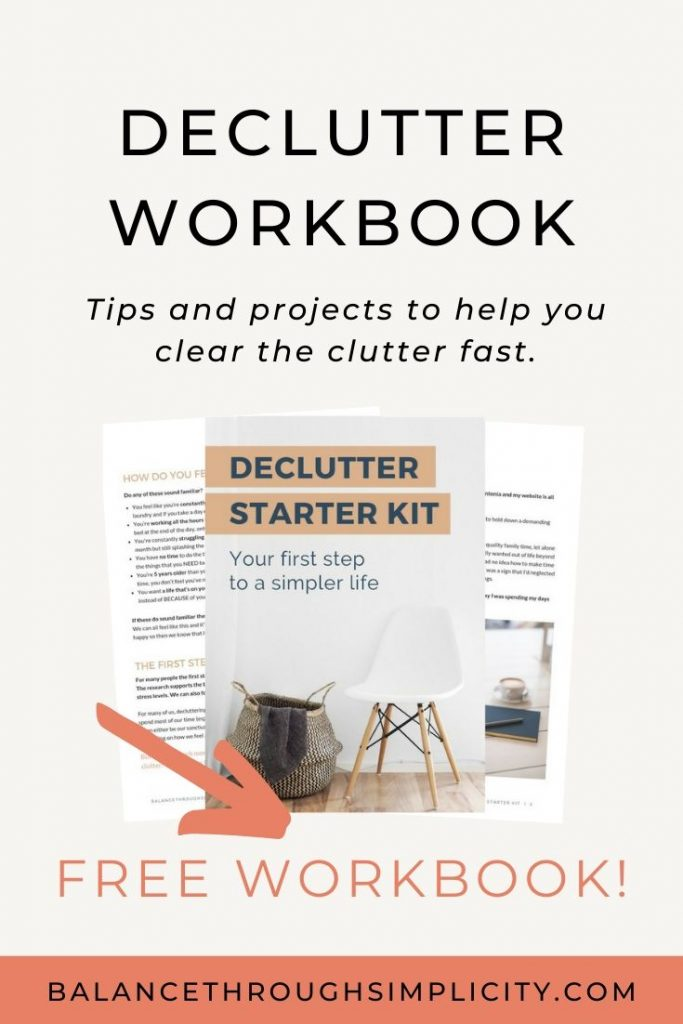 Declutter workbook
