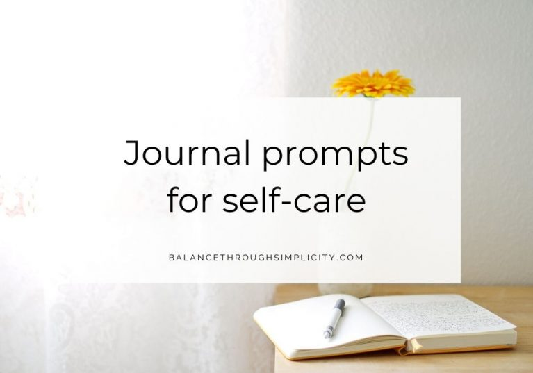 Journal prompts for self-care