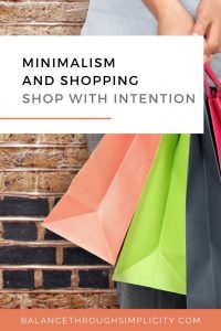 Minimalism and shopping