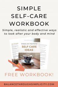 Simple self-care workbook