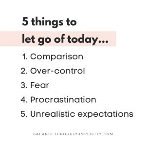 5 things to let go of today