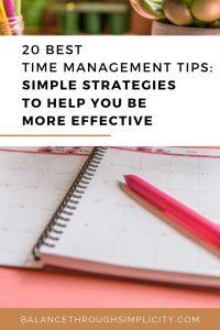 20 best time management tips