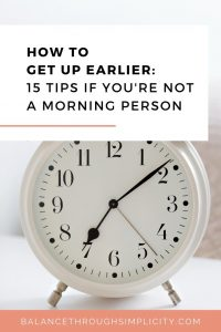 How to get up earlier