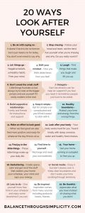 20 ways to look after yourself