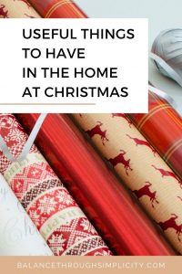 Useful things to have in the home at Christmas