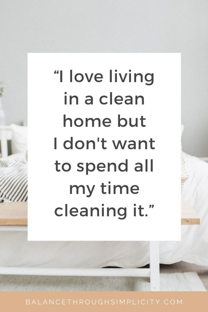 How to spend less time cleaning - minimalist cleaning routines