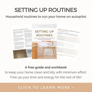 Setting up routines workbook