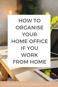 How to organise your home office space if you work from home