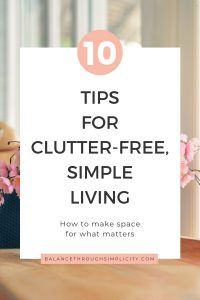 10 tips for clutter-free living